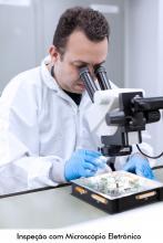 Inspeção com Microscópio Eletrônico